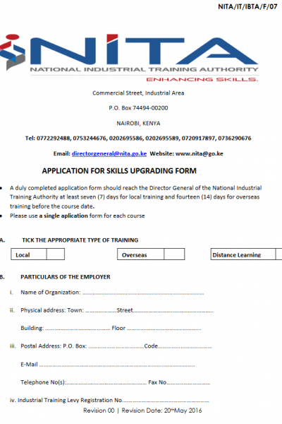 Nita application form